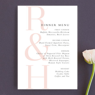 over and over Menu Cards