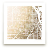 Custom Map Filled Foil Art Custom Map Printing
