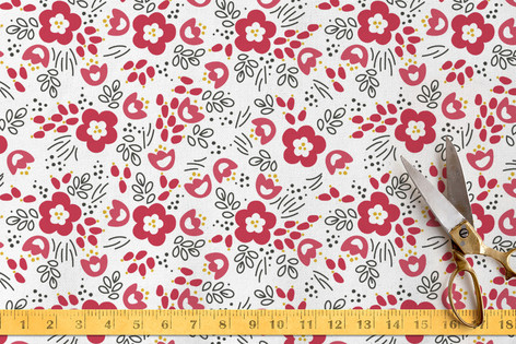 Picking Poppies Fabric