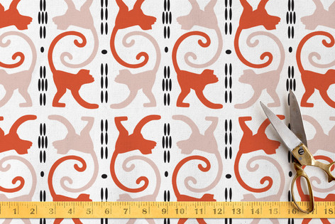 cocktail monkeys Fabric