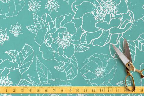 Beautiful Camellia No. 1 Fabric