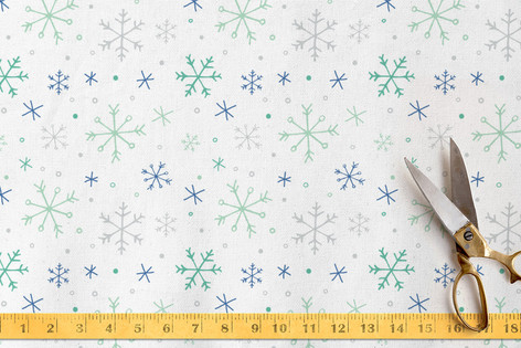 winter flurries Fabric