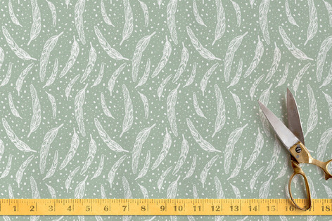 Dipped Feather Fabric