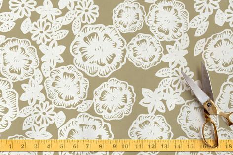 Lace and Kraft Fabric