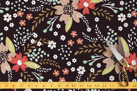 Floral Chalkboard Fabric