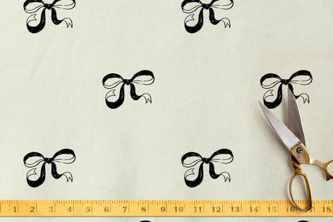 Hand Drawn Bows Fabric