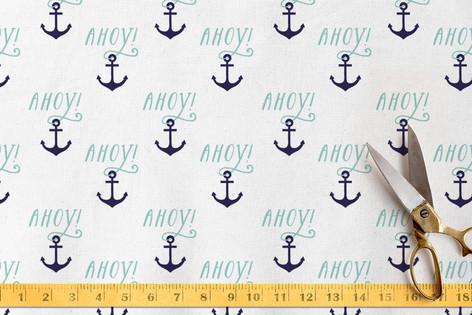 Ahoy! Anchors Fabric