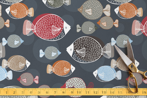 Swim School Fabric