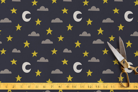 Starry Night Sky Fabric