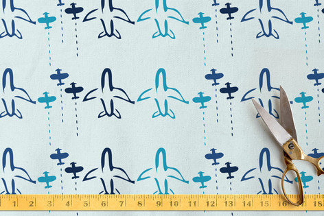 Painted Planes Fabric