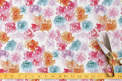 Flower Power Doodles Fabric