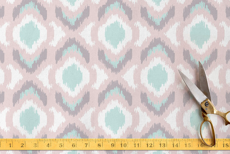 Pastel Ikat Fabric