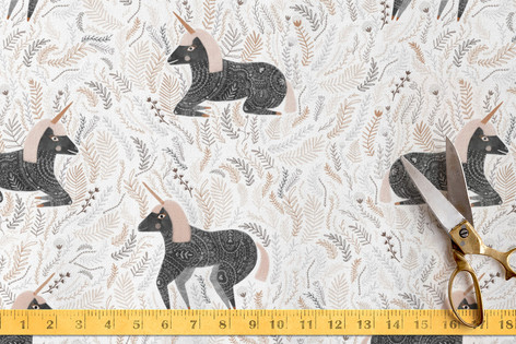 unicorn slumber Fabric