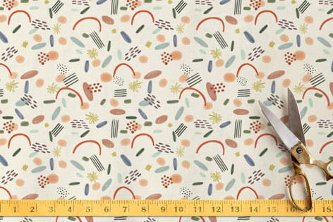 Watercolor Confetti Fabric