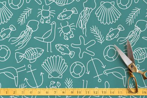 Coastal Life Fabric