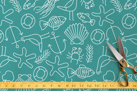 Coastal Inspired Life Fabric