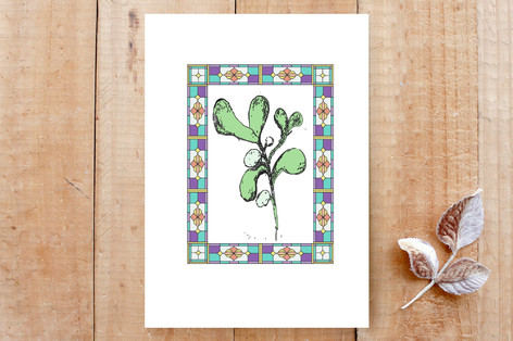 Mistletoe in the Window Cards