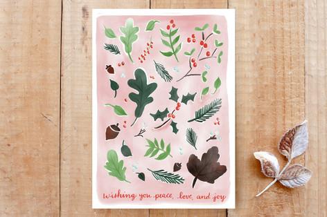 Pink Christmas Botanicals Cards
