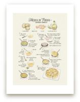Illustrated recipe of tortilla de patata