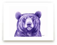 Purple Bear by Tracy Ann