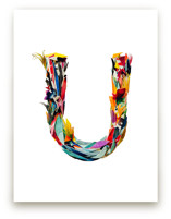 Collage letter U by Kiana Mosley