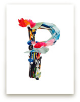 Collage letter P by Kiana Mosley