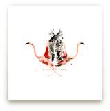 Family Crest: Flamingos by Betty Hatchett