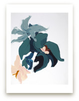 Modern Abstract Floral art print