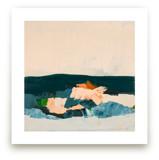 Abstract Seascape Crashing Waves