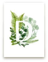 Floral Monogram D by Helga Wigandt