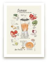 Illustrated recipe of gazpacho