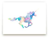 Watercolor Unicorn by Kim Johnson