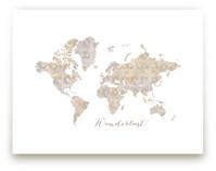Wanderlust world map by Rosana Laiz · Blursbyai