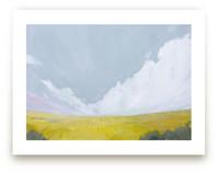 Yellow Landscape by Kara Schlabaugh