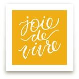 joie de vivre lettering by Sam Dubeau