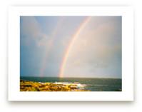 Double Rainbow at the Sea