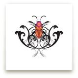 Pink Beetle by Katrina Leandro