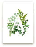 Floral Monogram A by Helga Wigandt