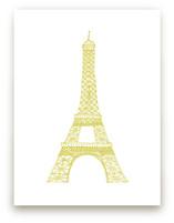 The Eiffel Tower in Pen by Sharon Rowan