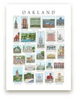 Oakland Landmarks by Valerie Hamill