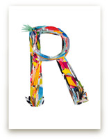 Collage letter R by Kiana Mosley
