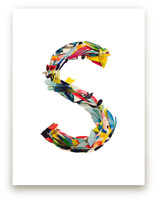 Collage letter S by Kiana Mosley