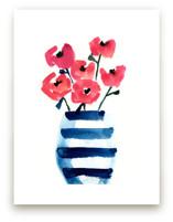 Vase with Blue Stripes by Lindsay Megahed