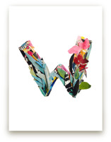 Collage letter W by Kiana Mosley