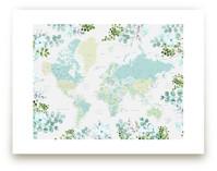 Greenery world map by Rosana Laiz · Blursbyai