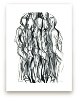 Turn, Abstract Charcoal... by Kathleen Ney