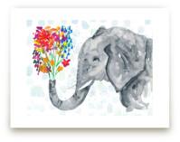 Floral Elephant by Kim Johnson