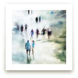 People On Beach Bokeh by Andy Mars
