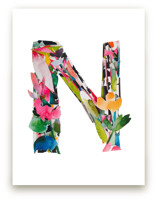 Collage Letter N by Kiana Mosley