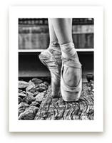 En Pointe on Railroad by Zanne Bedore